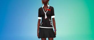 Блузка персонажа Джунко Эношима Симс 4 - фото 1