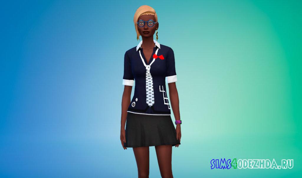 Блузка персонажа Джунко Эношима Симс 4 - фото 2