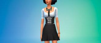 Блузка с корсетом для Симс 4 - фото 1