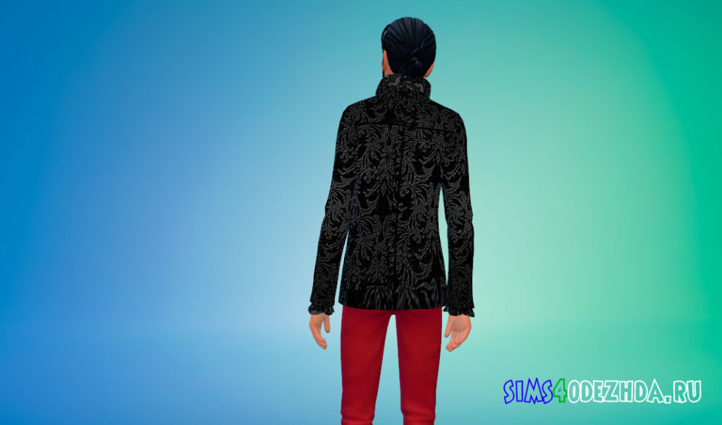 Вампирская куртка для мужчин Симс 4 - фото 3