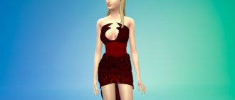 Вампирское короткое платье Симс 4 - фото 1
