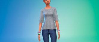 Вязаная блузка Симс 4 - фото 1