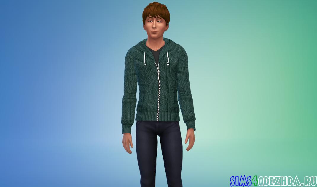 Вязаный-мужской-свитер-фото-1