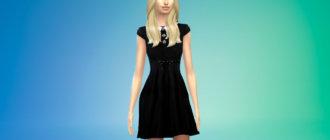 Готическое кукольное платье для вампиров Симс 4 - фото 1