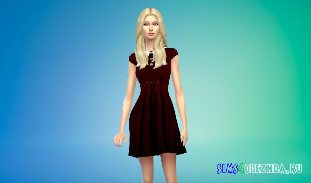 Готическое кукольное платье для вампиров Симс 4 - фото 2