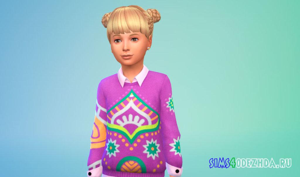 Детские плетеные волосы Симс 4 - фото 1