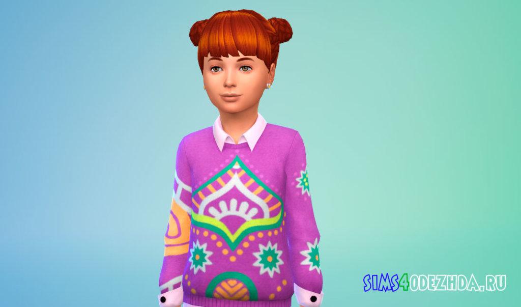 Детские плетеные волосы Симс 4 - фото 2