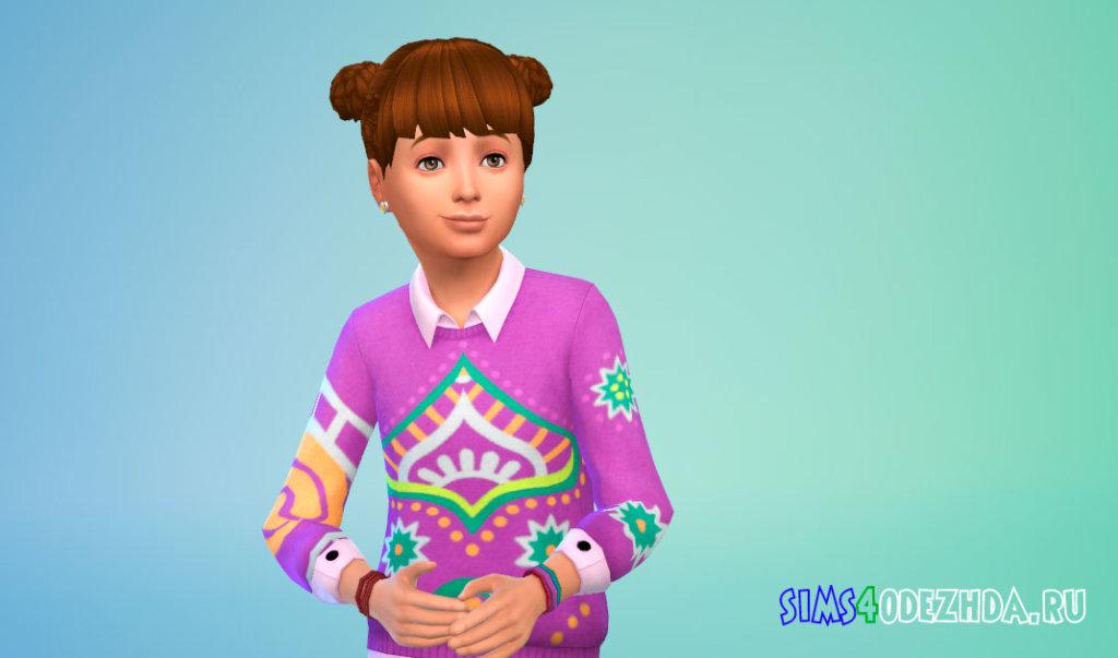 Детские плетеные волосы Симс 4 - фото 3