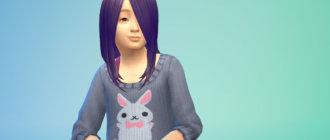 Длинные волосы с челкой для девочек Симс 4 - фото 1