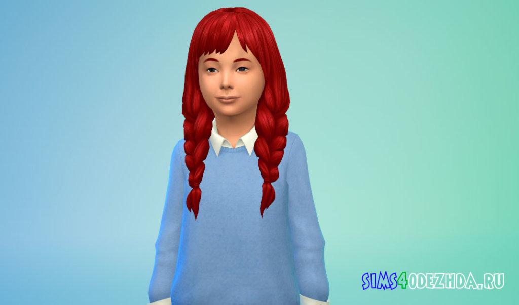 Длинные косички для девочек Симс 4 - фото 2