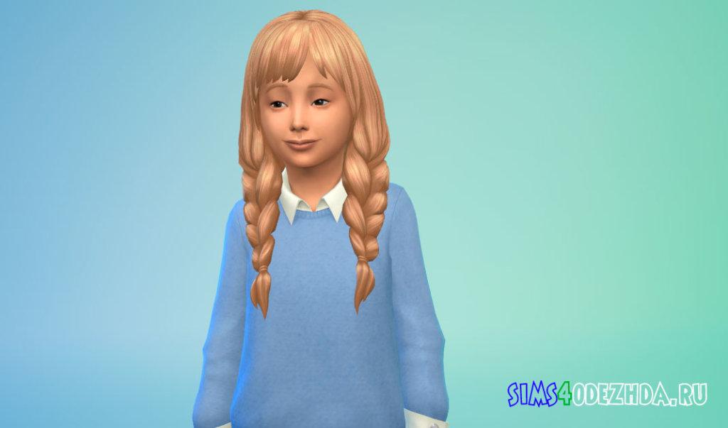 Длинные косички для девочек Симс 4 - фото 3