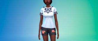 Женская блузка для Симс 4 - фото 1