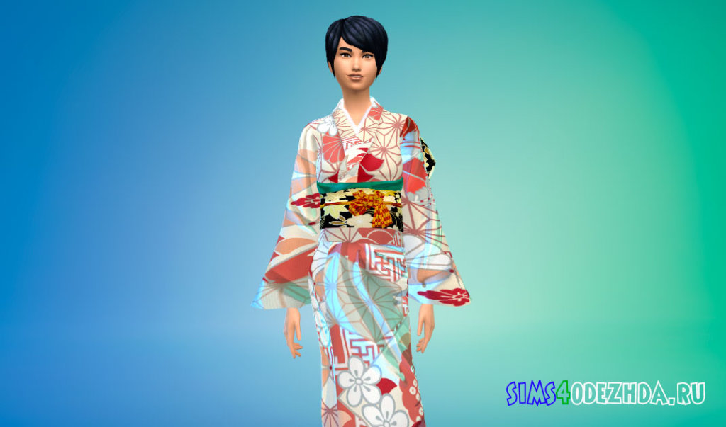 Женское японское кимоно Симс 4 - фото 1