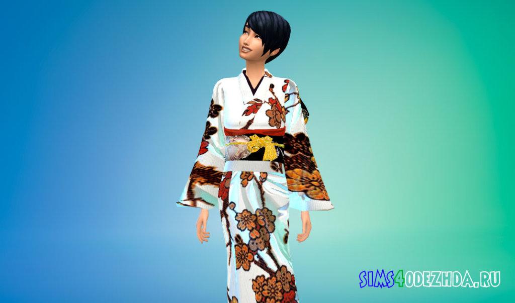 Женское японское кимоно Симс 4 - фото 3