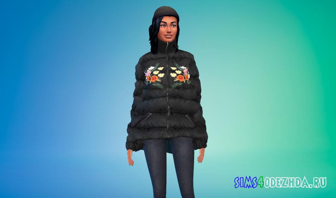 Зимняя оверсайз куртка Симс 4 - фото 1