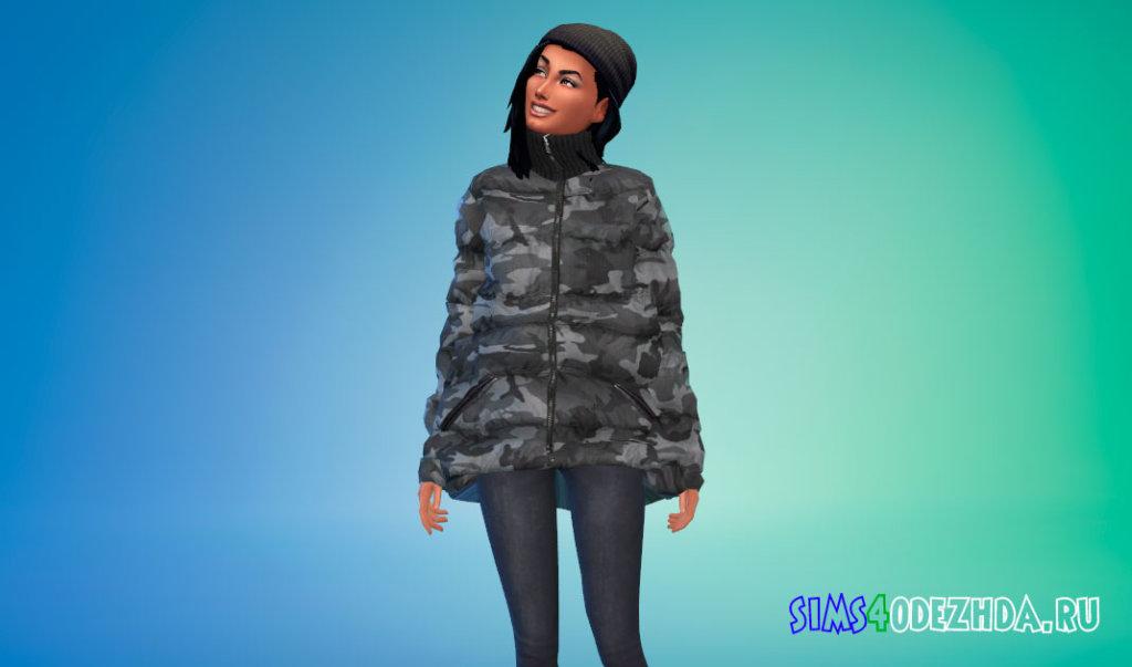 Зимняя оверсайз куртка Симс 4 - фото 3