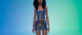 Короткое дизайнерское платье Симс 4 - фото 1