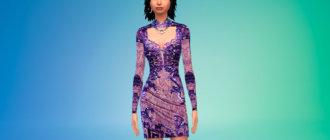 Короткое японское платье Симс 4 - фото 1