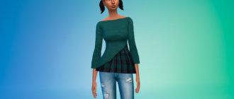 Красивая блузка для Симс 4 - фото 1