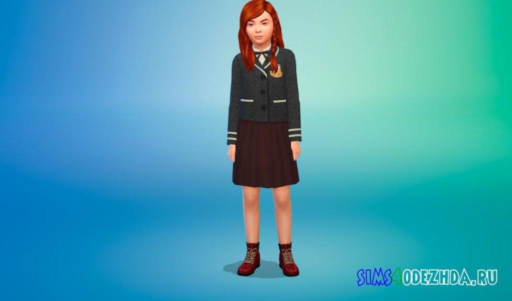 Красивая школьная форма для девочек для Симс 4 - фото 1