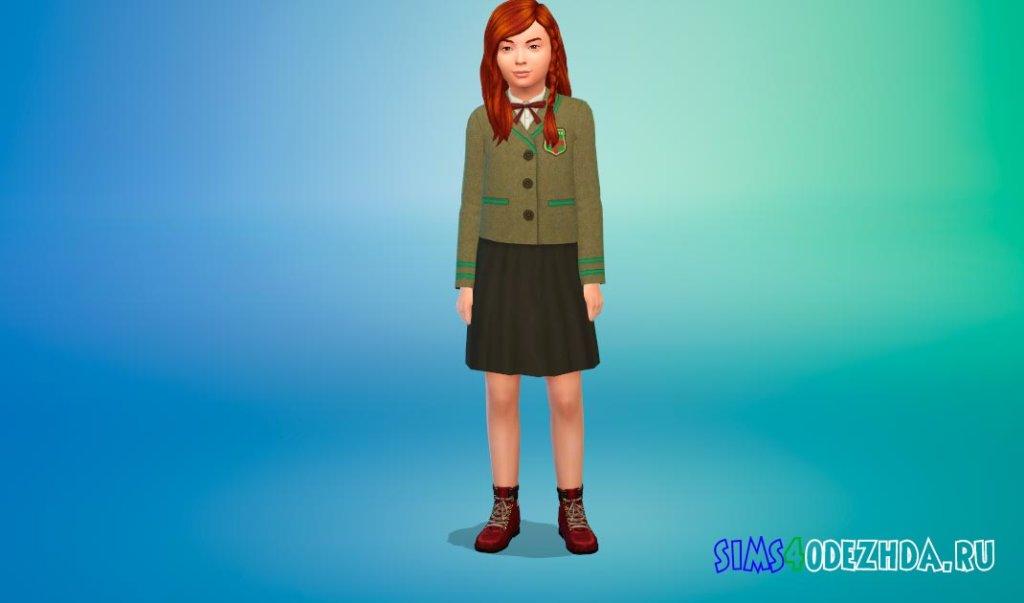 Красивая школьная форма для девочек для Симс 4 - фото 3