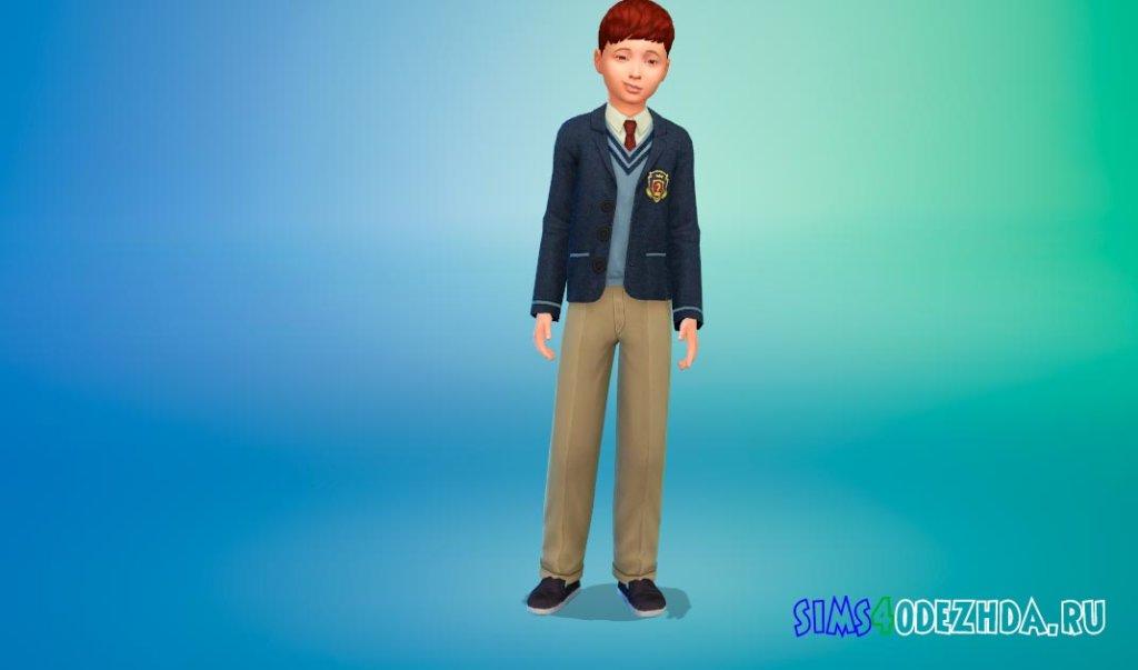 Красивая школьная форма для мальчиков для Симс 4 - фото 1