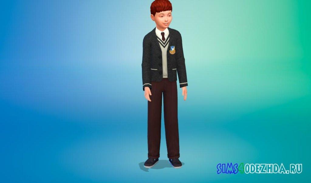 Красивая школьная форма для мальчиков для Симс 4 - фото 2