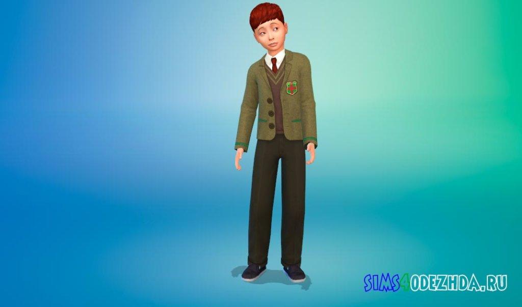Красивая школьная форма для мальчиков для Симс 4 - фото 3