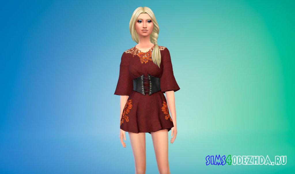 Красивое вампирское платье Симс 4 - фото 1