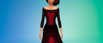 Кружевное платье для вампиров Симс 4 - фото 1
