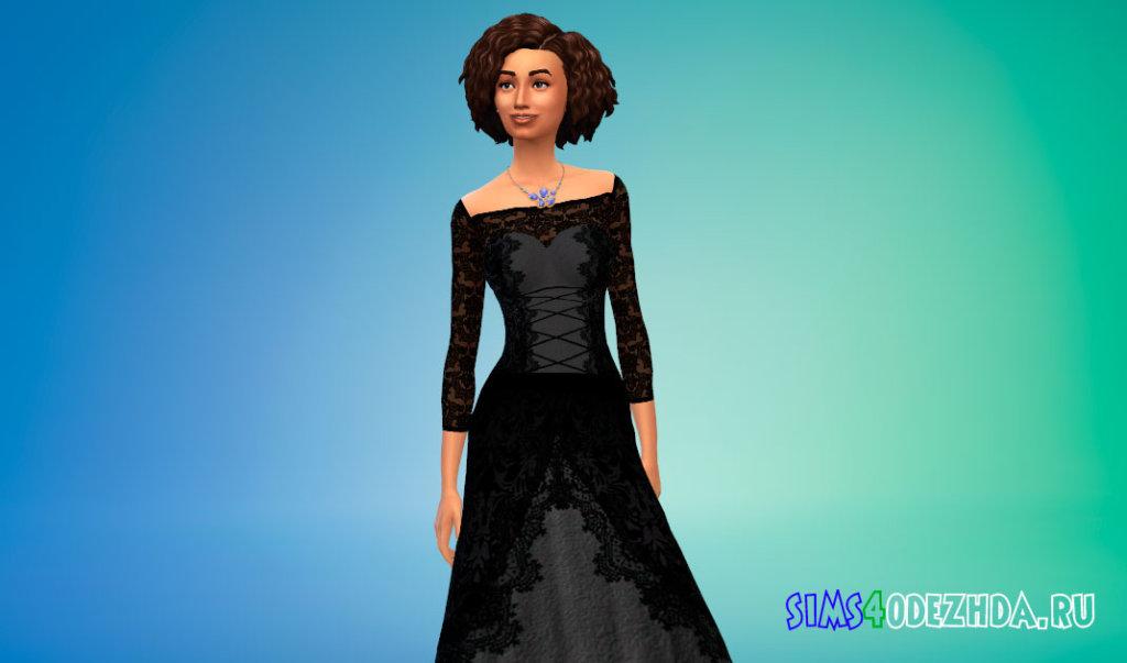 Кружевное платье для вампиров Симс 4 - фото 2
