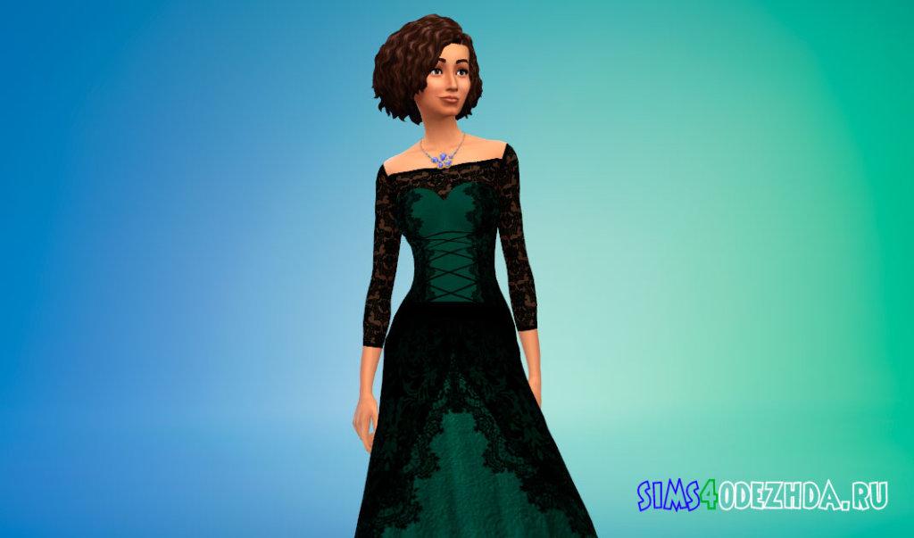 Кружевное платье для вампиров Симс 4 - фото 3