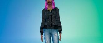 Крутая темно-серая зимняя куртка Симс 4 - фото 1