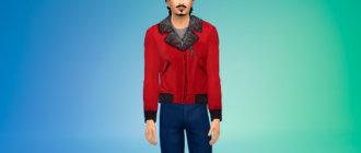 Куртка с меховым воротником Симс 4 - фото 1