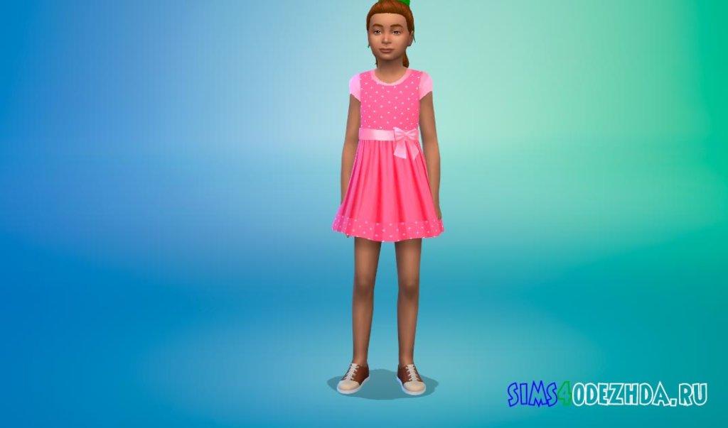 Милое платье с бантом Симс 4 - фото 1