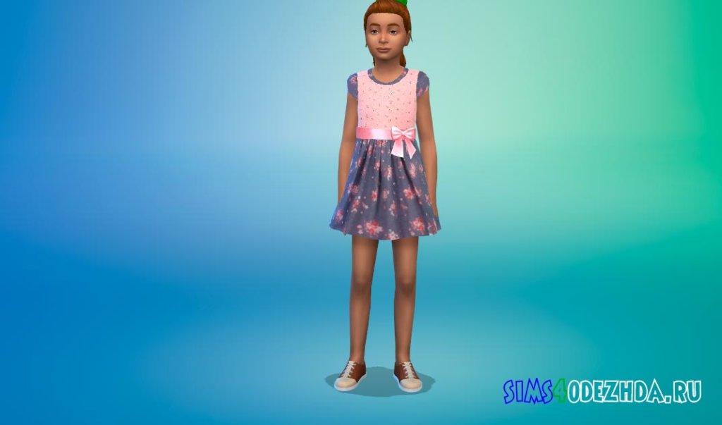 Милое платье с бантом Симс 4 - фото 2