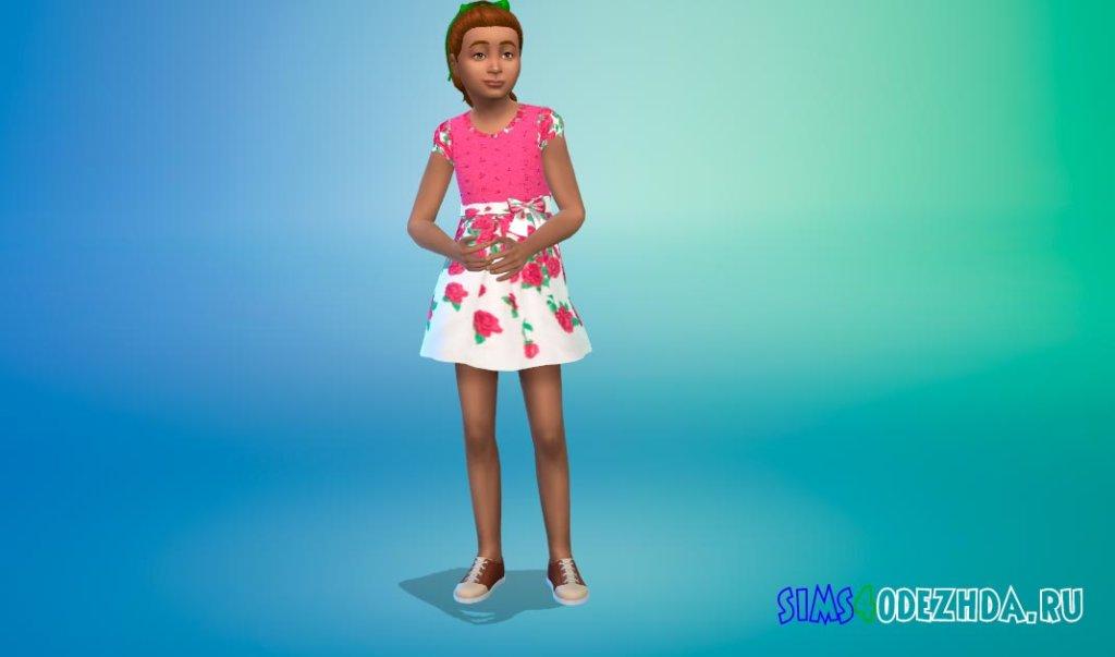 Милое платье с бантом Симс 4 - фото 3