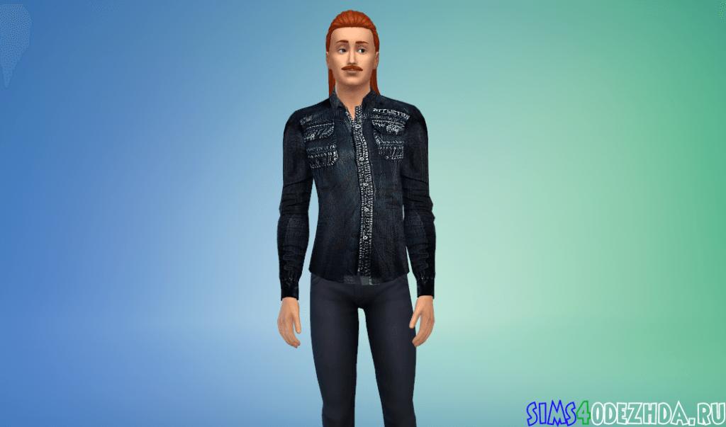 Мужская рубашка с крутым принтом - фото 3