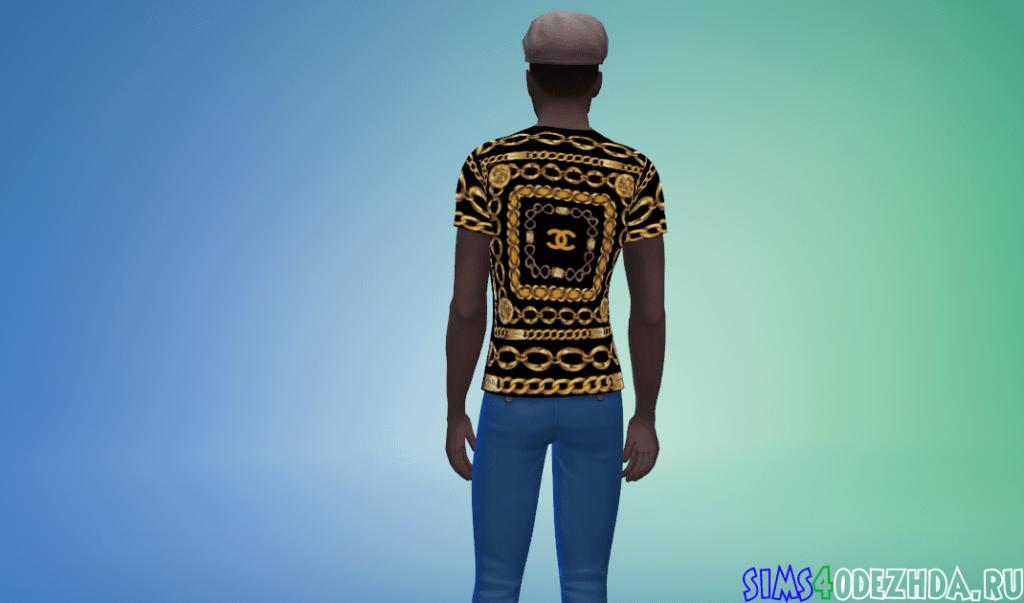 Мужская футболка от Chanel (Шанель) с цепями - фото3