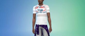 Мужская футболка с Арнольдом Шварценеггером Симс 4 - фото 1