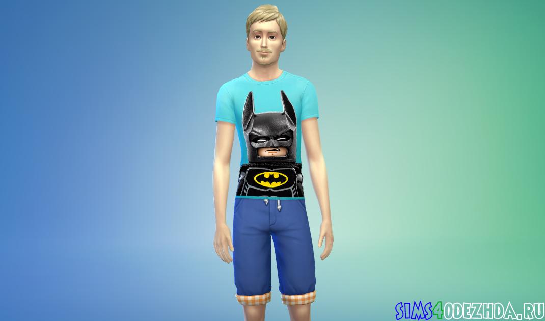 Мужская футболка с бэтменом из Лего фильма - фото 1