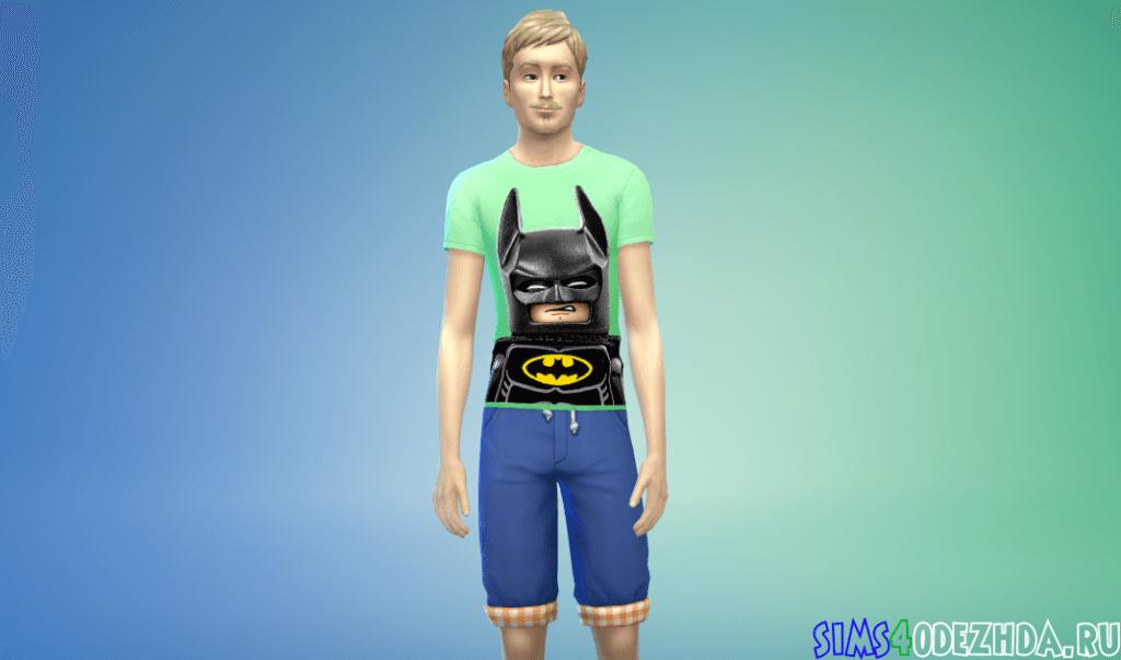 Мужская футбофлка с бэтменом из Лего фильма - фото 2