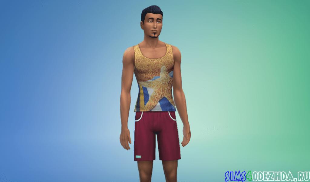 Мужская футболка с пляжным принтом - фото 2