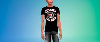 Мужские футболки с японскими иероглифами Симс 4 - фото 1