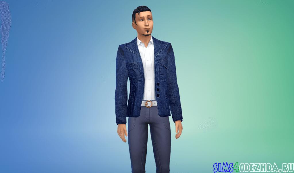 Мужской джинсовый пиджак - фото 1