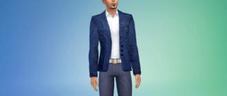 Мужской джинсовый пиджак Симс 4 - фото 1