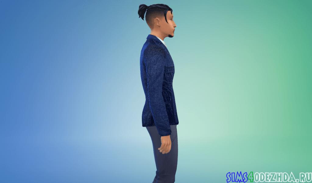 Мужской джинсовый пиджак - фото 2