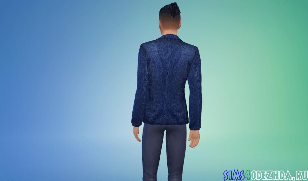 Мужской джинсовый пиджак - фото 3