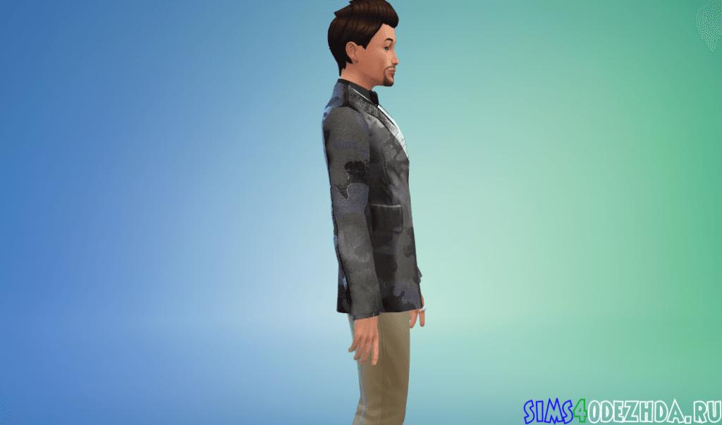 Мужской жаккардовый пиджак - фото 2