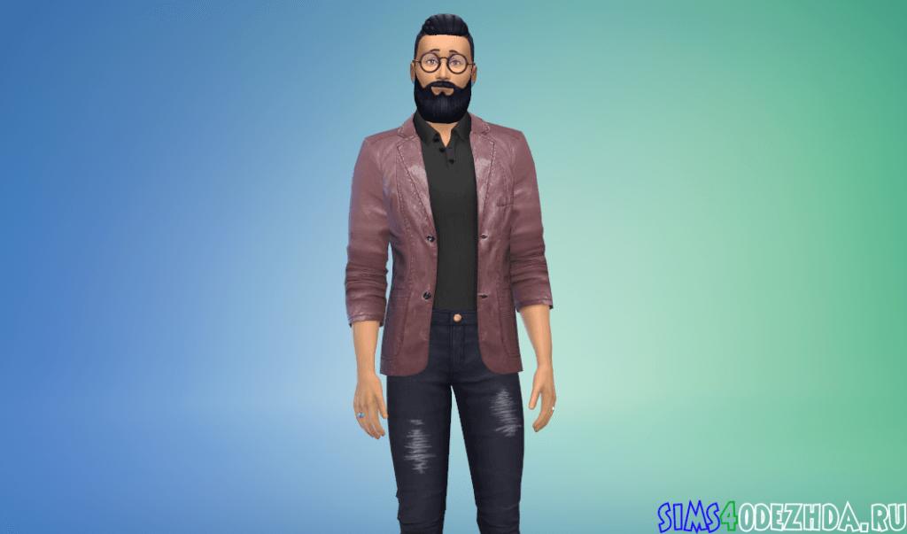 Мужской кожаный пиджак - фото 2